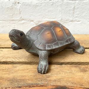 Dark Brown Resin Decorative Turtle Tortoise Animal Figurine Statue Ornament Gift
