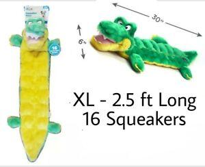 "Outward Hound® Squeaker Matz Gator XL Plush Dog Toy 30"" Long - (16) Squeakers"