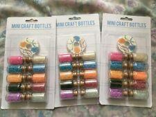 Seed Beads Mini Glass Bottles Crafts Embellishments x 3 Packs