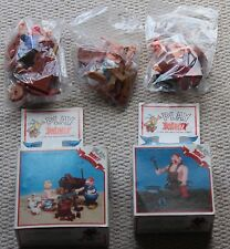 Vintage Astérix Action Figures 38167 38171 Comme neuf scellé dans des sacs Boxed