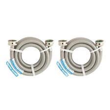 "10-Stainless Steel 3/4"" X 3/4"" FGH X 5' Washing Machine Water Hose 2/Pk 9WM60P2"