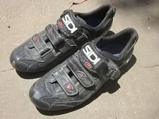 Sidi Genius 6.6 Carbon EU 43 ( US 9) Cycling road Shoes 3-bolt Black mesh spin