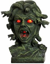 HALLOWEEN ANIMATED MEDUSA BUST SOUNDS PROP DECORATION HAUNTED HOUSE