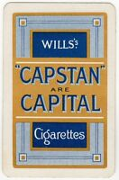 Playing Cards 1 Swap Card - Old Vintage Wills CAPSTAN Are CAPITAL Cigarettes