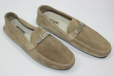 MOSCHINO men shoes sz 9 Europe 42 BEIGE SUEDE leather S8133