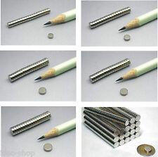 Neodym-Supermagnete Scheiben 2 mm Dicke - versch.Sorten vernickelt