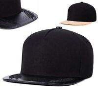 Snapback Hats flat brim Baseball Hip Hop trucker dancer cap cork black spirit