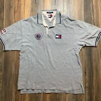 Vintage 90's TOMMY HILFIGER popover pullover SHIRT XL spellout POLO SPORT ROWING