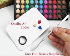 Stainless Steel Cosmetic Makeup Palette Beauty Color Mixing Plate w/ Spatula UK