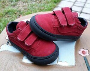 Vans RED/Black Boys' Toddler 4.5C