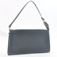 Authentic Louis Vuitton Epi Pochette Accessoires Pouch Black LV #sa149 +
