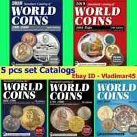 2019 KRAUSE 5 pcs set Catalogs of World Coins 1601-2018 Digital Book