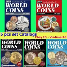 2019 KRAUSE 5 pcs set Catalogs of World Coins 1601-2018 Digital Book