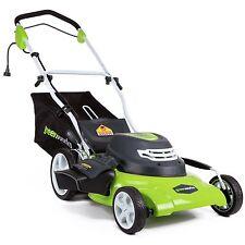 GreenWorks 25022 12 Amp Corded 20-Inch Lawn Mower Rear Bag Mulch Ergonomic Bar