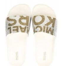 cc0fb46754a9 Michael Michael Kors Studded Logo Gilmore Pool Slides Sandals Women s Size  ...