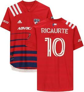 Andres Ricaurte FC Dallas Signed Match-Used #10 Red Jersey - 2020 MLS Season
