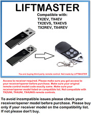 Liftmaster TX2EV, TX4EV, TX2EVS, TX4EVS 433.92MHz Control Remoto Compatible.
