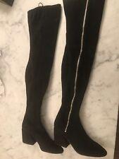 Dolce Vita Women's Black Stella Suede Tall Boots Size 7