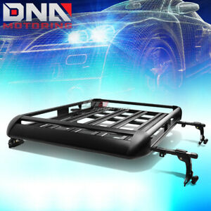 "50""X 38""ALUMINUM ROOF RACK SUV TOP CARGO BAGGAGE CARRIER BASKET+CROSSBAR BLACK"