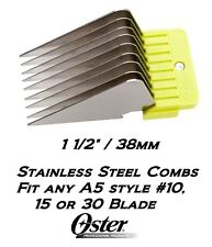 """OSTER A5 STAINLESS STEEL ATTACHMENT GUIDE 1 1/2"""" COMB*FitMost Andis,Wahl Clipper"""