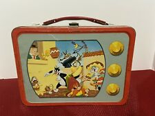 New ListingLooney Tunes Tv Vintage Metal Lunchbox With Thermos