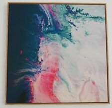 Abstract Print, Canvas, Framed with American Oak, 102 x 100cm