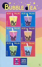 Palau 2015 MNH Bubble Tea Taipei Asian Int Stamp Exhibition 6v M/S Stamps