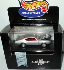 1969 OLDSMOBILE 442 H/O, Silver w/ Red, Hot Wheels 1:64, SHIPS FAST, NEW in Box!