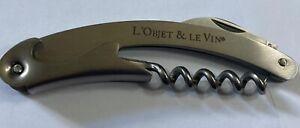 L'Objet And Le Vin corkscrew