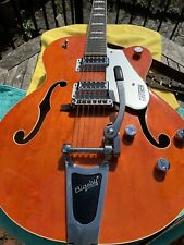 Gretsch Orange G5420T With Stagg Guitar Case.