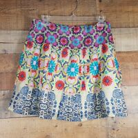 "Promod Women's Skirt Size 16"" Waist Floral Pattern Zip Up  (DC5)"