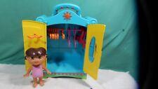 """8""""  Dora Doll , Closet & Hangers Clothes 15"""" Wardrobe 2004 Mattel Viacom"""