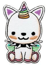 Rock Unicorn Iron on Patch Punk kitten cat metal cute kids happy animal Goth Emo