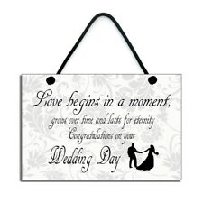 Love Begins In A Moment Congratulations On Your Wedding Day Gift 383