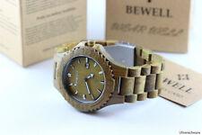 Bewell Reloj De Madera Hombre Talla Mujer Fecha 46mm Verde Sándalo Producto A
