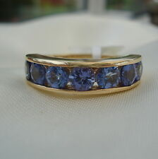 2.00ct AA Tanzanite Gold Band Ring