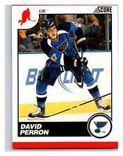 (HCW) 2010-11 Score Glossy #418 David Perron Blues Mint