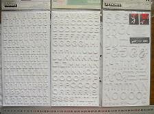FANTASTIC - ROCKABYE - JEWELRY BOX Foam WHITE Thicker Stickers 3Sizes Choice L1L