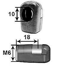 Rótula Plástico para resorte gas portón (Cabeza 10) Metrica 6mm - 11102010