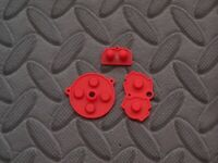 Game Boy Advance Replacement Set Of Red Accent Color Rubber Conductive Pads