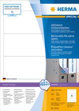 Herma 10141 Ordneretiketten A4 weiß 192x61 Mm Movables ablösbar