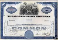 The Grand Union Company 4 Piece Stock Certificate Set