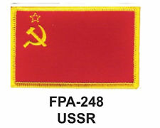 "2-1/2'' X 3-1/2"" USSR Flag Embroidered Patch"