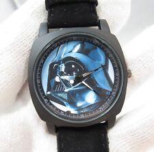 "STAR WARS,""Darth Vader"" Military Dial,Black Suede Band BIG MEN'S WATCH,1034 L@@K"