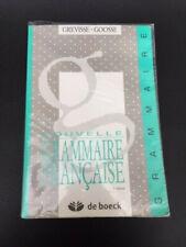 Livre: Nouvelle Grammaire Française - Grevisse - Goosse - de boeck - 3 ieme edit