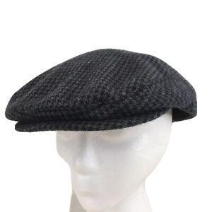 Uncle Rubys Thread Thimble Vtg USA Made XXL Gray Wool Newsboy Cap