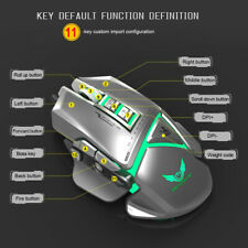 Wired Programmable Mechanical Macro Definition Gaming Mouse with 11 Buttons