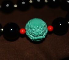 tibetan green turquoise blue natural necklace chinese foo lion fu dog bracelet