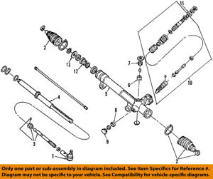 FORD OEM Steering Gear-Inner Tie Rod End 1F1Z3280AA