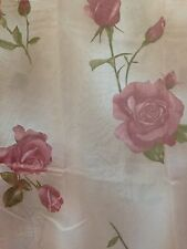 Rose Floral Flowers Shower Curtain Set with Vinyl Liner Plastic and Hooks, Cute!